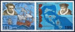 POLYNESIE FRANCAISE - 1995 - N° 483/484** - DECOUVERTE DES ILES MARQUISES - Nuovi