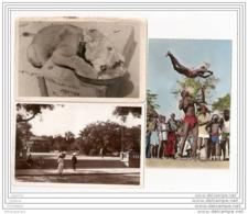 6298 SENEGAL AK /PC/ 3 X CARTE PHOTO/1012/SENEGAL/DAKAR OUARA/ PLACE PROTET/DANSEURS ACROBATIQUE/TTB - Senegal