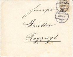 SUISSE -  ZUFINGEN -  ARRIVEE ROGGWYL BERNE  -  CACHETS 1892 - Cartas