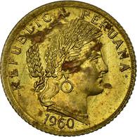 Monnaie, Pérou, 10 Centavos, 1960, TTB, Laiton, KM:224.2 - Perú