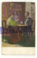 Couple Qui Joue Aux Cartes. CPA - Playing Cards