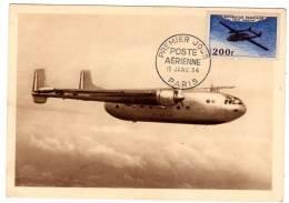 CARTE MAXIMUM - 1954 - NORD ATLAS - P.A N°31 - Maximumkarten
