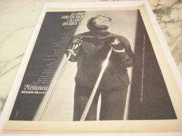 ANCIENNE PUBLICITE LIGNE STRECH OVER  DE HELANCA 1961 - Vintage Clothes & Linen