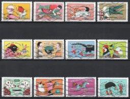 France - Adhésifs N° 789 à 800 Oblitérés - Série Complète - Sourires - Sauter Du Coq à L'ane - Frankrijk