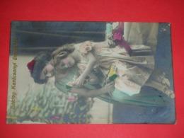 Children,girl,puppet,toys,clown,photo Chrome,vintage Postcard - Enfants