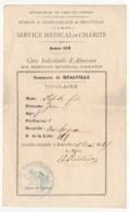 REALVILLE (Tarn Et Garonne) - Bureau De Bienfaisance - Service Médical De Charité -  Service Médical Gratuit 1868 - Documents Historiques