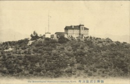 Korea Coree, CHEMULPO INCHEON, Meteorological Observatory (1910s) Postcard - Korea (Zuid)