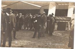 CPA Photo Le Roi Alphonse XIII à L'Aérodrome De Buc 78 Yvelines - Buc