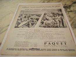 ANCIENNE PUBLICITE AUX CANARIE CROISIERE PAQUET  1961 - Boats