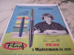ANCIENNE PUBLICITE DES JEUNES ET WATERMAN  1961 - Other Collections
