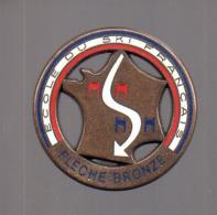 REF : MON1 : Badge Médaille FLECHE BRONZE Ecole De Ski Français De - Sports D'hiver