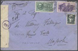 1941 FERMO POSTA PREPAGATO Espresso Affr Fratellanza C.50 + Imperiale C.15 + Espresso Lire1,25 Pizzo (11.9) - Poststempel