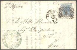 1868 EFFIGIE C.20 Tirat. Londra Su Lettera Completa Testo Brescia (25.12) - 1861-78 Vittorio Emanuele II