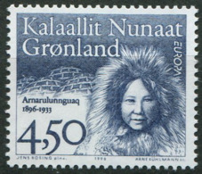 Groenland ** N° 274 - Femme Célèbre - Europa 96 - Europa-CEPT