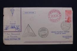 SAINT MARIN - Enveloppe Par Parachute En 1949, Affranchissement Et Cachets Plaisants - L 43030 - Saint-Marin