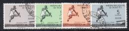 APR2966 - HAITI 1958 , Posta Aerea Serie Yvert N. 124/127  Usato  (2380A)  Cator - Haiti