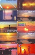 10 Telecartes - LEVER / COUCHER De SOLEIL  Sunrise / Sunset - Sonnenaufgang / Sonnenuntergang (A-140) Phonecards - Paysages