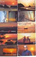 10 Telecartes - LEVER / COUCHER De SOLEIL  Sunrise / Sunset - Sonnenaufgang / Sonnenuntergang (A-144) Phonecards - Paysages