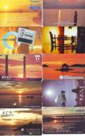 10 Telecartes - LEVER / COUCHER De SOLEIL  Sunrise / Sunset - Sonnenaufgang / Sonnenuntergang (A-145) Phonecards - Paysages
