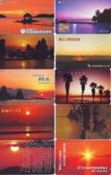 10 Telecartes - LEVER / COUCHER De SOLEIL  Sunrise / Sunset - Sonnenaufgang / Sonnenuntergang (A-146) Phonecards - Paysages