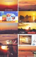 10 Telecartes - LEVER / COUCHER De SOLEIL  Sunrise / Sunset - Sonnenaufgang / Sonnenuntergang (A-150) Phonecards - Paysages