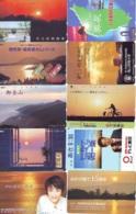 10 Telecartes - LEVER / COUCHER De SOLEIL  Sunrise / Sunset - Sonnenaufgang / Sonnenuntergang (A-151) Phonecards - Paysages