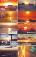 10 Telecartes - LEVER / COUCHER De SOLEIL  Sunrise / Sunset - Sonnenaufgang / Sonnenuntergang (A-154) Phonecards - Paisajes