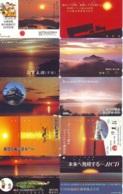 10 Telecartes - LEVER / COUCHER De SOLEIL  Sunrise / Sunset - Sonnenaufgang / Sonnenuntergang (A-156) Phonecards - Paysages