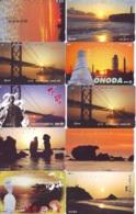10 Telecartes - LEVER / COUCHER De SOLEIL  Sunrise / Sunset - Sonnenaufgang / Sonnenuntergang (A-158) Phonecards - Paysages