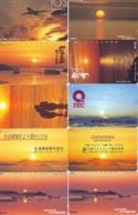 10 Telecartes - LEVER / COUCHER De SOLEIL  Sunrise / Sunset - Sonnenaufgang / Sonnenuntergang (A-161) Phonecards - Paysages