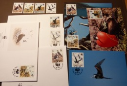 Ascension  1990  N°Mi. 521 à 524  Frégate Adlerfregattvogel Frigate Bird WWF  Maxi Card FDC MNH ** #cover 4959 - W.W.F.
