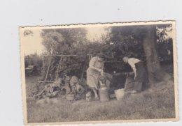 Grimbergen - Wijk Borght - FOTOKAART Van Een Boerenfamilie Aan Het Werk Uit 1947 - Grimbergen