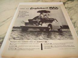 ANCIENNE PUBLICITE PNEUS MAX ENGLEBERT  1961 - Other