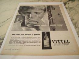 ANCIENNE PUBLICITE VOS ENFANTS GRANDISE MON VITTEL 1961 - Posters