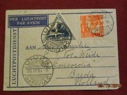 Lettre En Poste Aerienne De Batavia à Destination De Breda De 1934 - Indie Olandesi