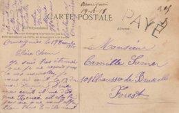 Griffe PAYE +montant Du Port 0,05 + Paraphe /mention Manuscrite Ormeignies 19/12/18 - Storia Postale