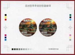 Korea 2008 SC #4785, Deluxe Proof, Russian Steam Train, Locomotive - Trains