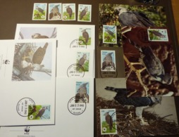 WWF Guyana - 1990 - N°Yv. 2152 à 2155  Harpie Harpyie   Maxi Card FDC MNH ** #cover 4961 - W.W.F.