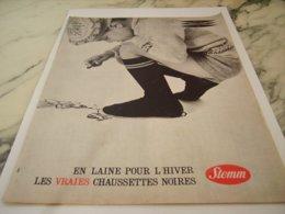 ANCIENNE PUBLICITE DES CHAUSSETTES EN LAINE  DE STEMM  1961 - Unclassified