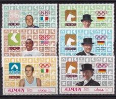 Ajman 1969, Sports, Complete Set, MNH. Cv 12 Euro - Ajman