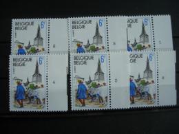 Belgique: 1950** Ciney Les 6 Numéros De Planche - Numéros De Planches