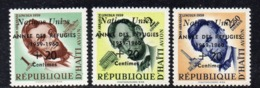 APR29668- HAITI 1959 , Posta Aerea Serie Yvert N. 170/172  ***  MNH  (2380A) Rifugiato - Haiti