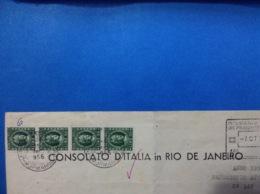 1956 DOCUMENTO CONSOLATO D'ITALIA IN RIO DE JANEIRO CON MARCHE DA BOLLO 50 LIRE X 12 E MARCA CONSOLARE GRATUITA - Documenti Storici