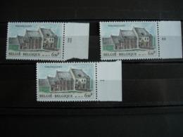 Belgique: 2013** Tongerlo: Les 3 Numéros De Planche - Plate Numbers