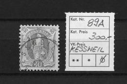 1882 - 1906 STEHENDE HELVETIA Gezähnt → SBK-89A / KESSWEIL (TG) - Oblitérés