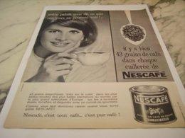 ANCIENNE PUBLICITE NESCAFE 43 GRAINS DE CAFE 1961 - Posters