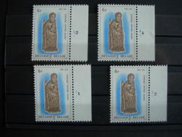 Belgique:2010** Tongres Notre Dame. Les 4 Numéros De Planche - Plate Numbers