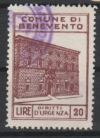 Benevento. Marca Municipale Diritti Di Urgenza L. 20 - Otros
