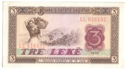 ALBANIA3LEKE1976P41UNC.CV. - Albania