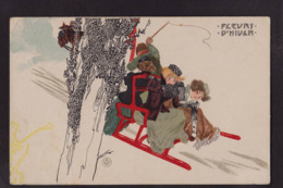 CPA Kirchner Raphaël Art Nouveau Femme Girl Women Circulé Dos Non Séparé - Kirchner, Raphael
